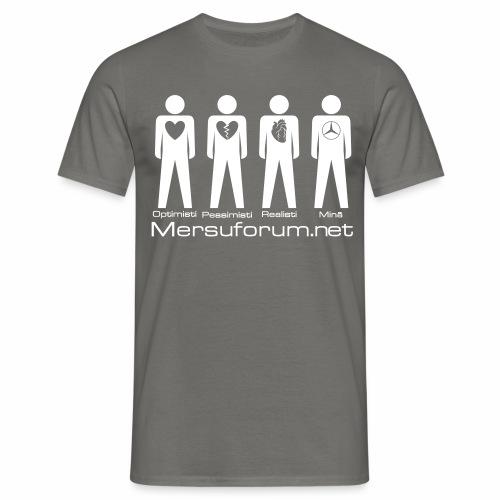 optimisti pessimisti - Miesten t-paita