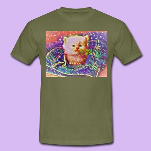 Gattino scintillante nella tasca dei jeans - Maglietta da uomo