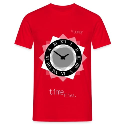clock(WHITE) - Männer T-Shirt