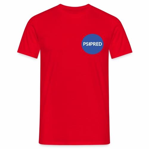 PSIPRED logo blue field - Men's T-Shirt