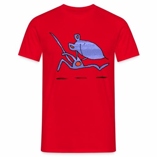 muis op de loop - Mannen T-shirt