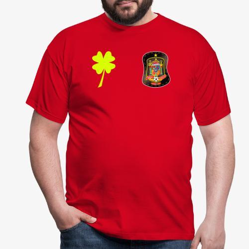 Trébol de la suerte / Escudo de España - Camiseta hombre