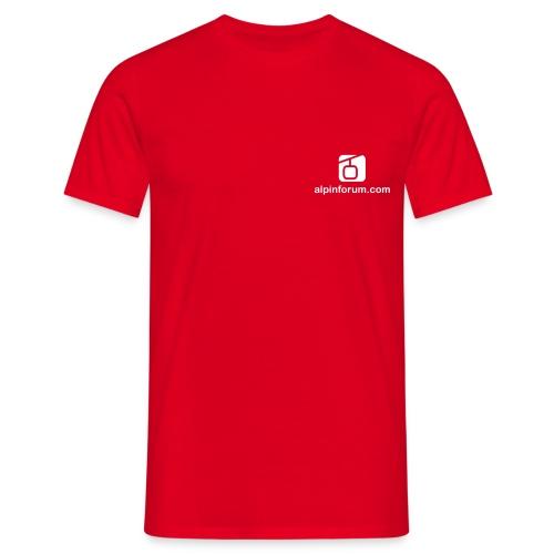 logo shop brust 5x8 1c - Männer T-Shirt