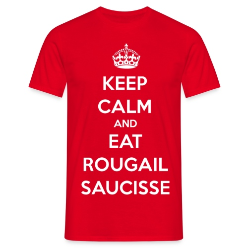 keep calm saucisses png - T-shirt Homme