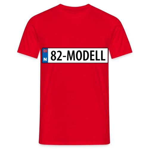 82-modell kjennemerke - T-skjorte for menn