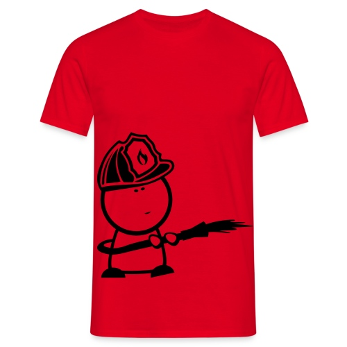 retter fire comic - Männer T-Shirt