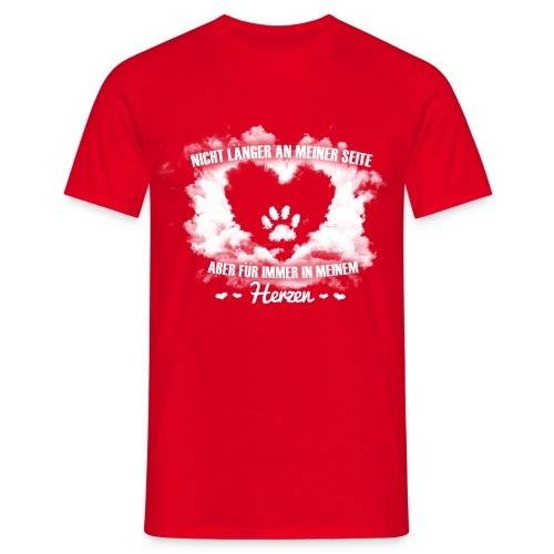 Hund im Herzen - Männer T-Shirt