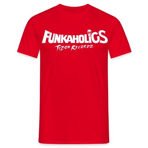 logo_funkaholics_white - T-shirt Homme