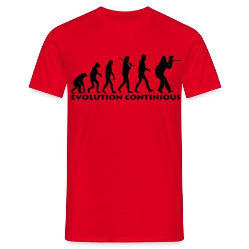 paintball evolution continious v10 - Männer T-Shirt