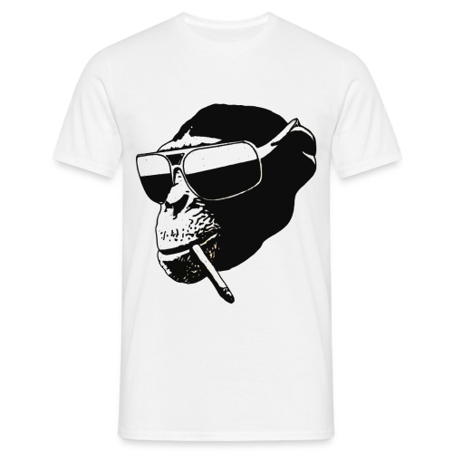 smoking monkey - Mannen T-shirt