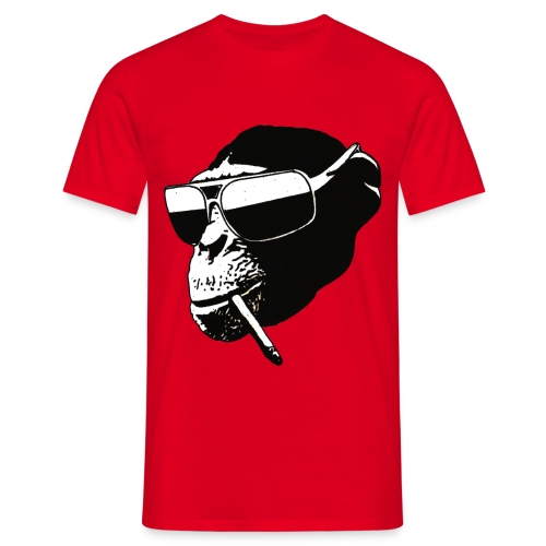 smoking monkey - Mannen T-shirt