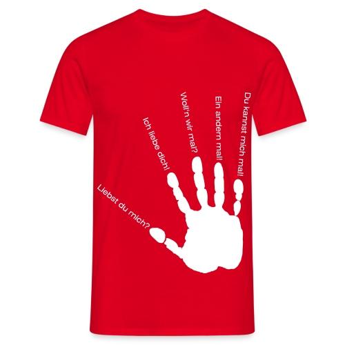 Liebst du mich? - Männer T-Shirt