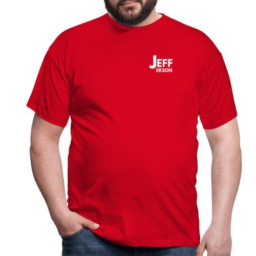 Jefferson logo klein (wit) - Mannen T-shirt