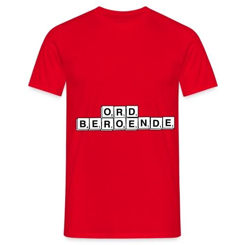 ordberoende - T-shirt herr