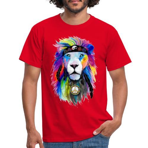 León hippie - Camiseta hombre