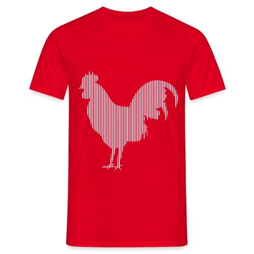 LINE BIRD 003w - Mannen T-shirt