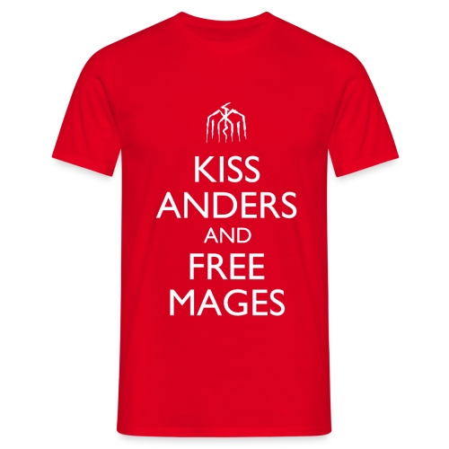 Kiss Anders and Free Mages Design - Men's T-Shirt