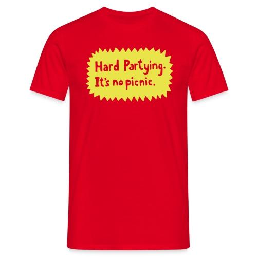 Hard Partying - Men's T-Shirt