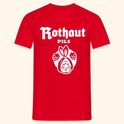 Rothaut Pils - Männer T-Shirt
