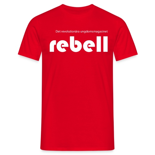 Rebell logga med text - T-shirt herr