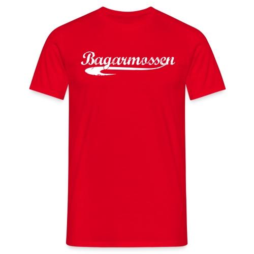 bagis white raster - T-shirt herr