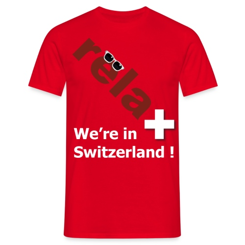 relaxed in Switzerland - Männer T-Shirt