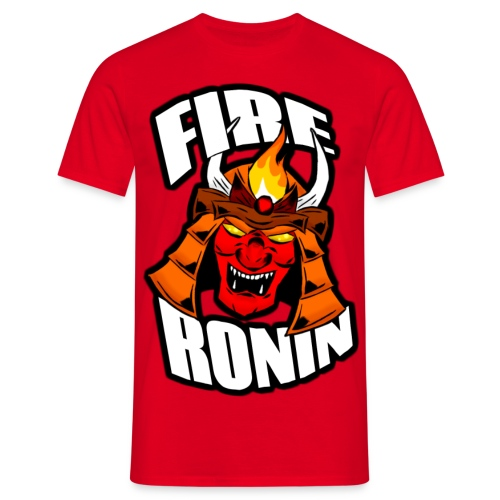 FireRoninHelmetshirt1 png - Men's T-Shirt