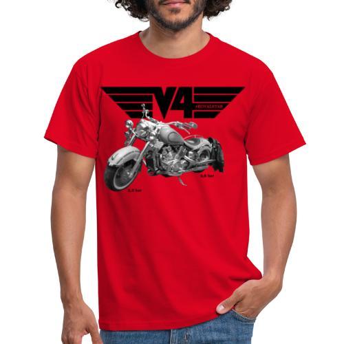V4 Motorcycles black Wings - Männer T-Shirt