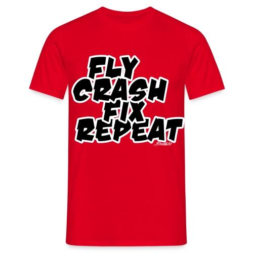 FlyCrashFixRepeat signed - Men's T-Shirt
