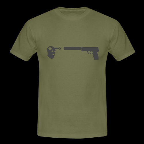 csgo usp headshot - T-shirt herr