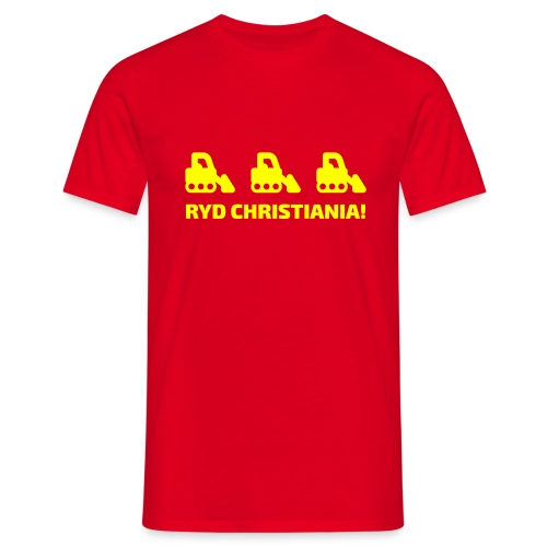 Ryd Christiania - Herre-T-shirt
