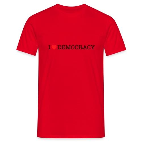 I <3 democracy - Mannen T-shirt