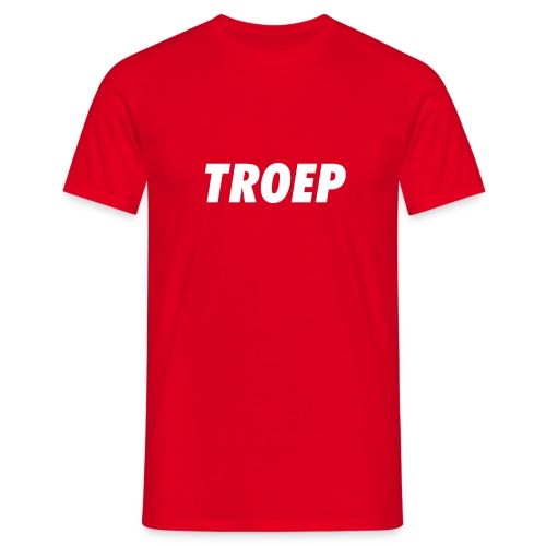 TROEP wit op kleur - Mannen T-shirt
