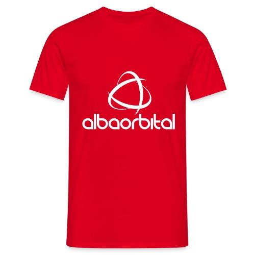 Alba Orbital Logo - White - Men's T-Shirt