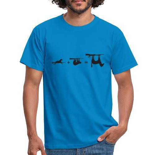 Lui paard Formule Luipaar - Mannen T-shirt