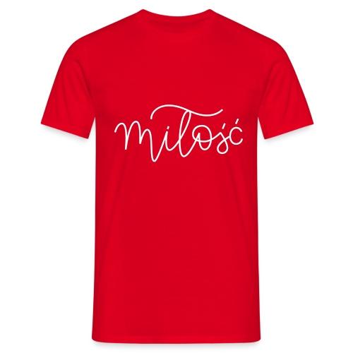 miłość - Koszulka męska