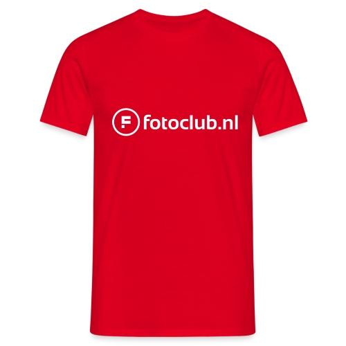 Logo Wit Fotoclublnl - Mannen T-shirt