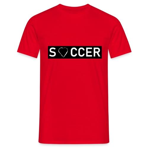 Soccer Heart - Männer T-Shirt