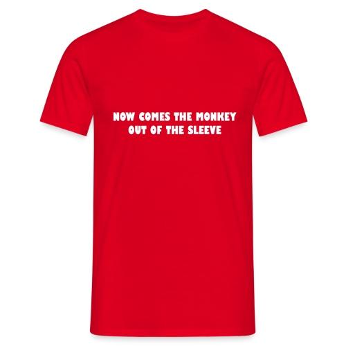 aap uit de mouw - Mannen T-shirt