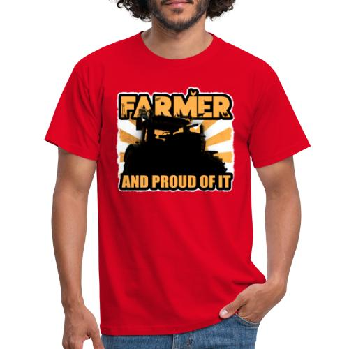 Farmer, and proud of it - Mannen T-shirt