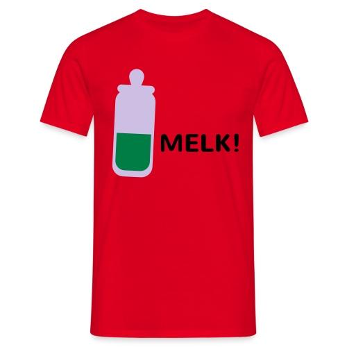 Grappige Rompertjes: Melk - Mannen T-shirt