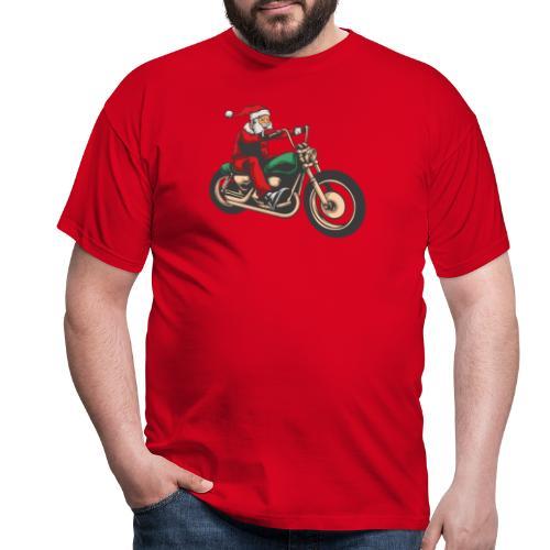 Cool Winter Christmas Santa Motor Biker - Men's T-Shirt