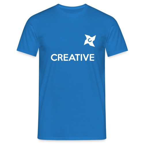 Creative simple black and white shirt - Herre-T-shirt