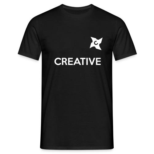 Creative simple black and white shirt - Herre-T-shirt
