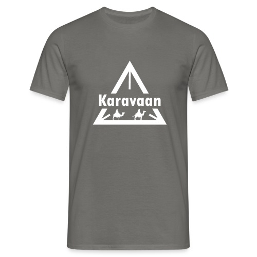 Karavaan White (High Res) - Mannen T-shirt