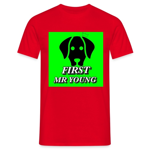 FIRST MR YOUNG CAP I RØD - Herre-T-shirt
