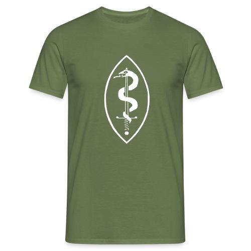 School of Mars Crest (White) - Men's T-Shirt
