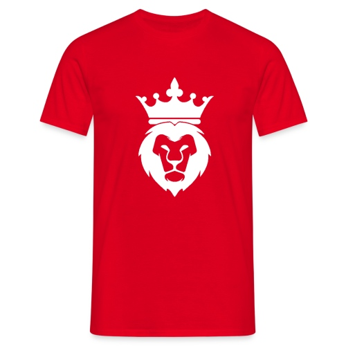 Lion_Logo_with_Crown_St--rre_bild_-white- - T-shirt herr