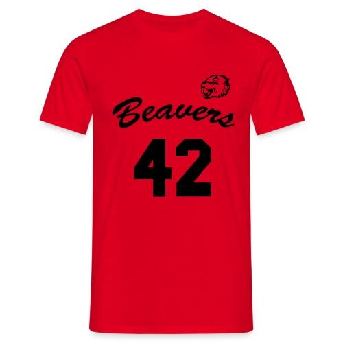Beavers front - Mannen T-shirt