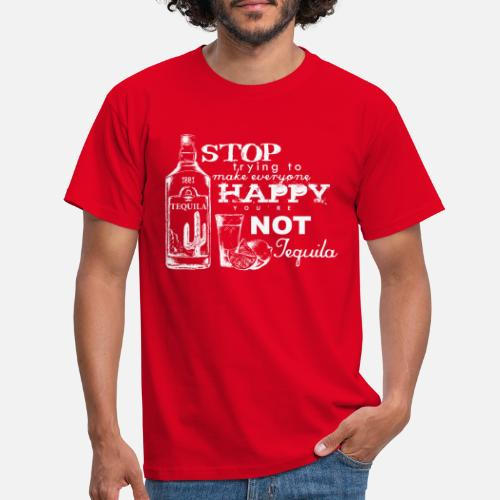 Happy Tequila - Männer T-Shirt